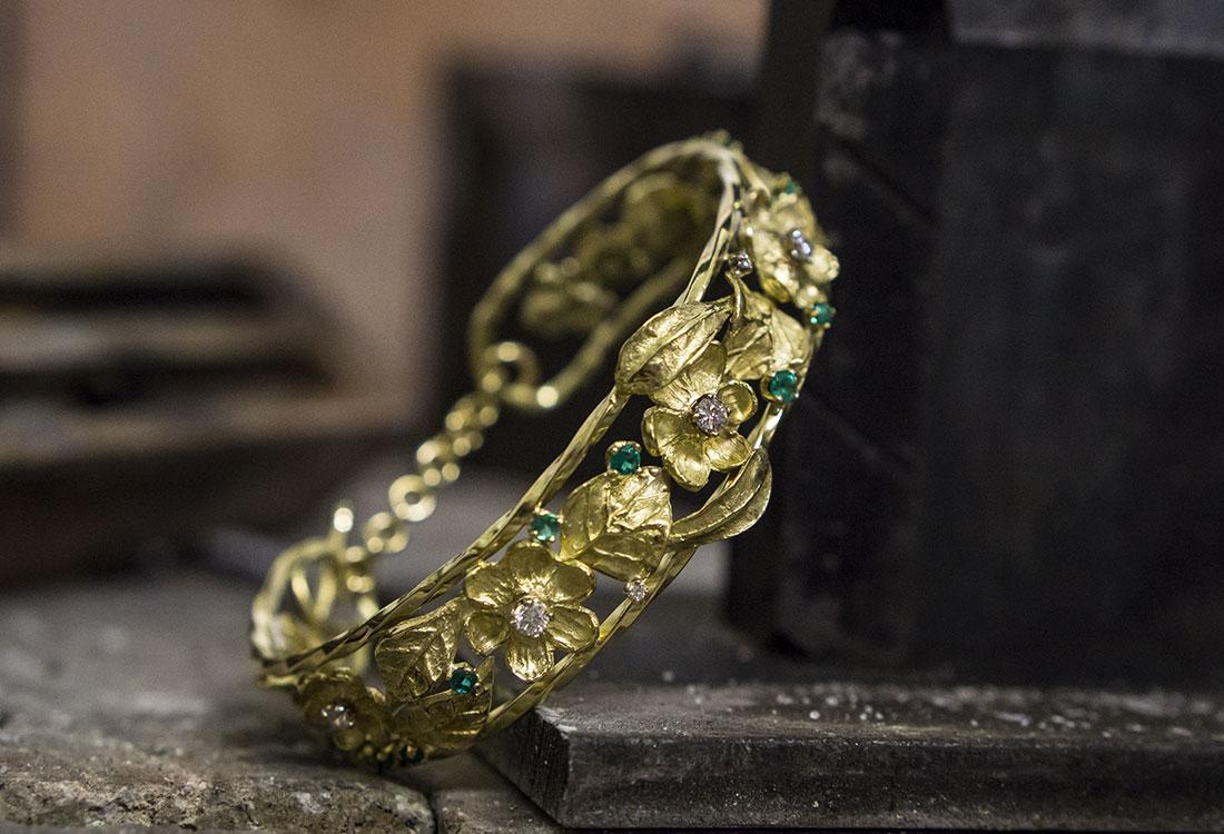 Bracciale Smeraldi e Diamanti